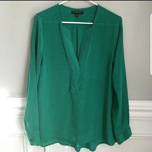 Like New BR silk blouse green